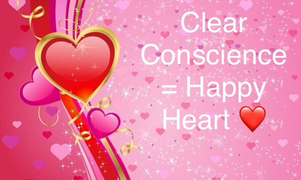 Clear Conscience = Happy Heart – Classy † Carmelite